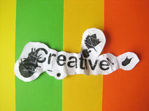 Creative word cut from paper Royalty Free Stock Image