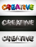 Creative word made with 3d letters. Stock Photo