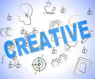 Creative Word Means Designing Designs And Ideas Royalty Free Stock Images
