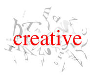 Creative words Stock Photo