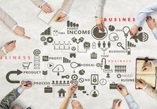 Creative work of business team Royalty Free Stock Image