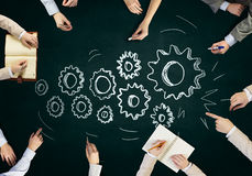 Creative work of business team Stock Image
