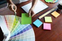 Creative work on color Beautiful colors, various colors, color tones, color comparison.  stock photo