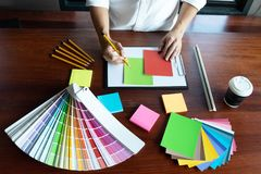 Creative work on color Beautiful colors, various colors, color tones, color comparison.  royalty free stock photo