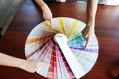 Creative work on color Beautiful colors, various colors, color tones, color comparison.  stock image