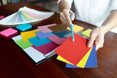 Creative work on color Beautiful colors, various colors, color tones, color comparison.  royalty free stock images