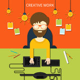 Creative work and designer tools concept Stock Photo