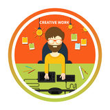 Creative work and designer tools concept Royalty Free Stock Images
