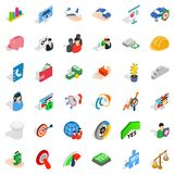 Creative work icons set, isometric style Royalty Free Stock Photos