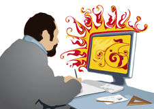 Creative at work (vector) Royalty Free Stock Photography