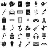 Creative working icons set, simple style Royalty Free Stock Photo