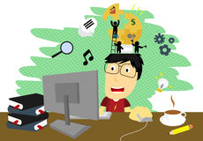 Creative Working Royalty Free Stock Images