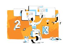 The creative works of the stock contributor stock illustration