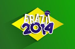 Creative World Cup Brazil 2014. Illustration Stock Photo