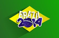 Creative World Cup Brazil 2014. Illustration Stock Photos