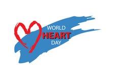 World Heart Day. Creative World Heart Day card Stock Photos
