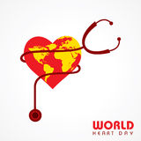 Creative World Heart Day Greeting Royalty Free Stock Images