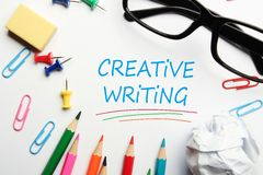 Creative writing Stock Image