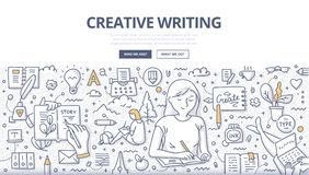 Creative Writing Doodle Concept Royalty Free Stock Photo