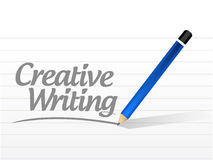 Creative writing message illustration Royalty Free Stock Images