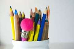 Creative writing and production of new ideas. Wiriting triggers new creative ideas Royalty Free Stock Image