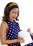 Creative Writing By Retro Female Stock Photos