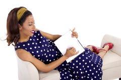 Creative Writing By Retro Female Royalty Free Stock Photo