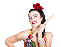 Creative writing woman holding pencil. Arts school Royalty Free Stock Photos