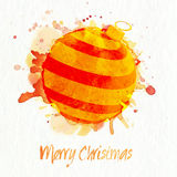 Creative Xmas Ball for Merry Christmas celebration. Royalty Free Stock Images