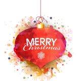 Creative Xmas Ball for Merry Christmas celebration. Royalty Free Stock Photos