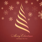Creative Xmas Tree for Christmas and New Year. Creative Xmas Tree design on snowflakes decorated background for Merry Christmas and Happy New Year celebration royalty free illustration
