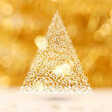 Creative Xmas Tree for Merry Christmas. Royalty Free Stock Images