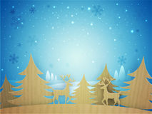 Creative Xmas Trees and reindeers for Christmas. Royalty Free Stock Image