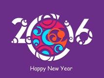 Creative 2016 year design Royalty Free Stock Photos