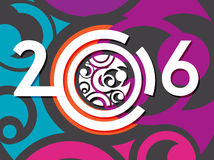 Creative 2016 year design Stock Photo