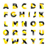Creative yellow and black font for your Stock Photo