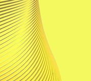 Creative Yellow wave forms and technology communication Royalty Free Stock Photography