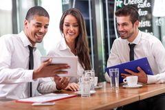 Business people and partnership concept royalty free stock image