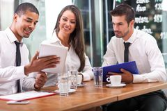 Business people and  partnership concept Stock Image