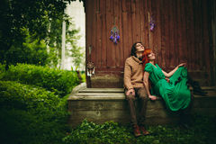 Creative Young Couple in Summer Royalty Free Stock Image