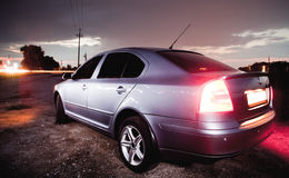 Creatively lighted car Royalty Free Stock Photography