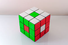 Creatively Solved Rubiks Cube Royalty Free Stock Photography
