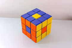 Creatively Solved Rubiks Cube Stock Photography
