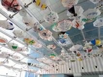 Creativeness. Umberlla roof in World trade park mall stock image