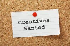 Creatives Chciał obrazy stock