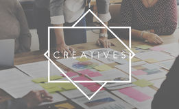 Creatives Designer Ideas Occupation Expertise Concept Royalty Free Stock Photography