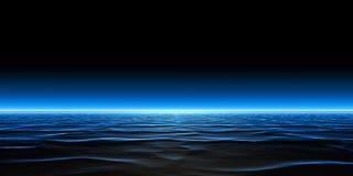 Creatividad abstracta del diseño del fondo del panorama de la superficie y de las reflexiones del agua imagen de archivo libre de regalías