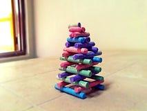 Creatividad con tizas Foto de archivo libre de regalías