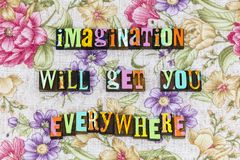 Creatividad de la ambición de la imaginación por todas partes imagen de archivo