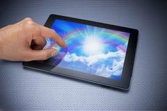Creatividad del arte de la tablilla de Ipad Imagen de archivo libre de regalías